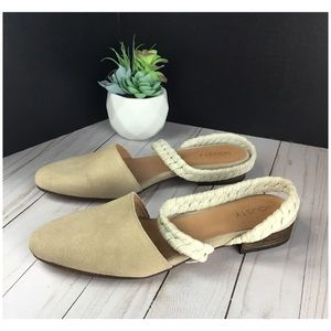 Howsty Caia Wrapped Raffia Flats forAnthropologie.